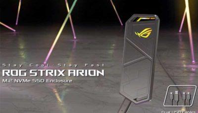 ایسوس محفظه ROG Strix Arion را برای اتصال حافظههای SSD معرفی کرد
