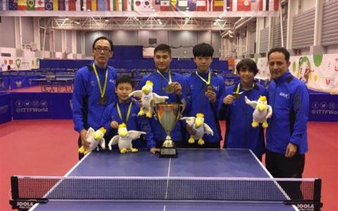 قهرمانی تیم تنیس روی میز منتخب آسیا در مسابقات نوجوانان جهان با حضور بازیکن ایرانی