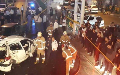 مرگ دو جوان در تصادف رسالت