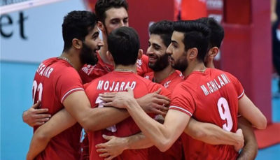 پیروزی قاطع تیم ملی والیبال ایران مقابل تونس