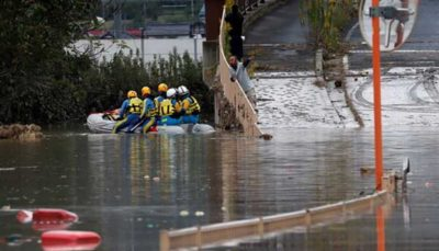 تلفات طوفان هاگیبیس به ۴۰ تن رسید