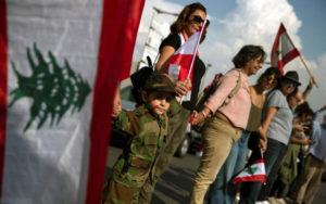 36 61 معترضان, لبنان, زنجیره انسانی
