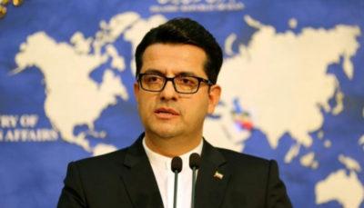سخنگوی وزارت خارجه: اقدام دولت فرانسه درمورد فریبا عادلخواه مداخله در امور داخلی ایران است