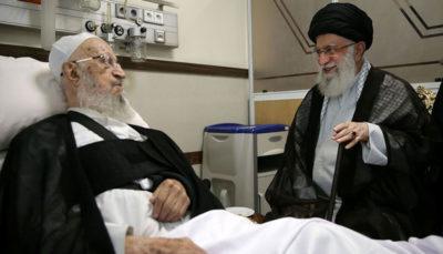 رهبر معظم انقلاب از حضرت آیت الله مکارم شیرازی عیادت کردند
