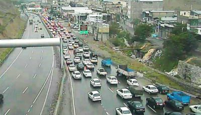 ترافیک نیمه سنگین در آزادراه تهران - کرج