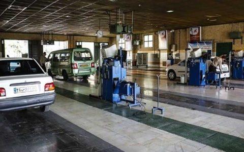 استقرار واحدهای سیار تست کنارجاده ای معاینه فنی در تهران