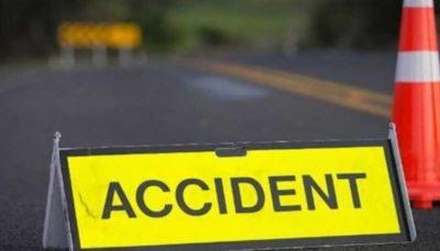 تصادف و حریقِ مرگبار خودروی سواری در هند