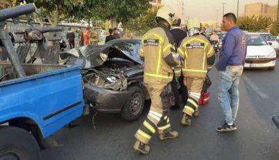 تصادف ۸ خودرو در آبشناسان ۲ مصدوم برجای گذاشت