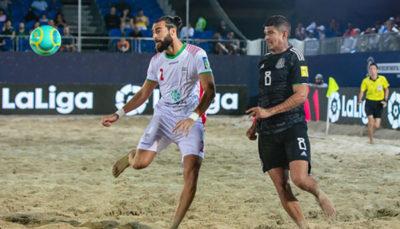 تیم ملی فوتبال ساحلی ایران برابر مکزیک به پیروزی رسید