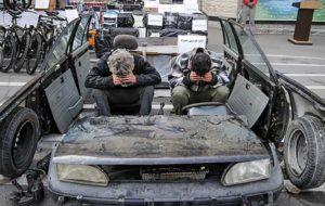 دستگیری پدر و پسر ماشین خرد کن