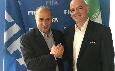 رئیس فیفا به تهران میآید