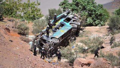 سقوط اتوبوس در پرو ۱۰ کشته برجا گذاشت