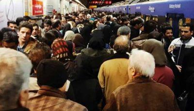 شلوغی مترو مربوط به نقص فنی نیست