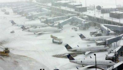 لغو بیش از ۱۰۰۰ پرواز در شیکاگو به دلیل بارش برف سنگین