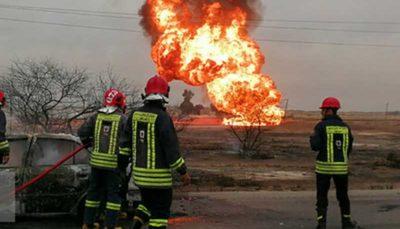 مصدومیت ۸ نفر در انفجار لوله گاز در پاکدشت