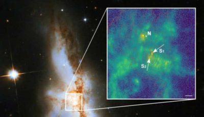 کشف سه سیاه چاله اَبَرجِرم در مرکز یک کهکشان