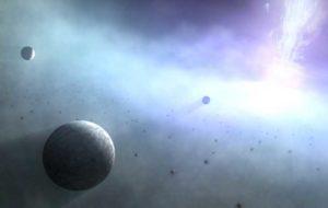 گردش هزاران ابرزمین به دور سیاه چاله ها