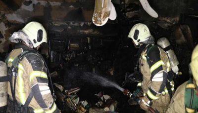 آتشسوزی شبانه در خانه ۴ طبقه