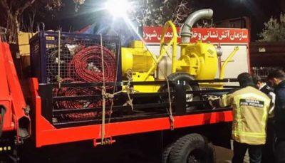 اعزام نیروهای امدادی آتشنشانی تهران به مناطق آب گرفته اهواز