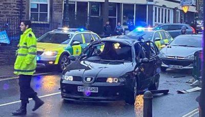 انفجار خودروی راننده انگلیسی به دلیل استفاده از اسپری خوشبوکننده
