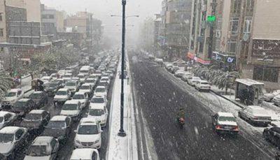 بارش برف و باران در۶استان