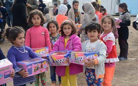 برگزاری جشن شب یلدا برای کودکان و خانواده های زلزله زده آذربایجان