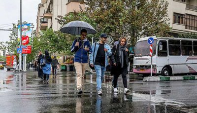 تداوم بارشها در کشور تا پایان هفته
