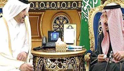 دیدار ملک سلمان با نخست وزیر قطر در ریاض نخست وزیر قطر, پادشاه عربستان, ملک سلمان