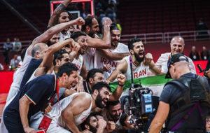 صعود ایران به المپیک 2020 یکی از 10 لحظه برتر بسکتبال آسیا در سال 2019