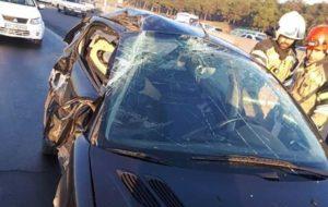 مرگ دو تن در تصادف اتوبان تهران-کرج