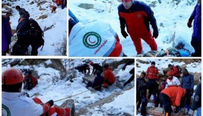 نجات ۲ کوهنورد از ارتفاعات شاه لولاک لنجان