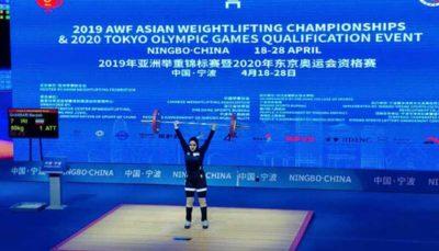 هفتمی بانوی وزنه برداردردسته ۸۷ کیلوگرم مسابقات بینالمللی قطرکاپ