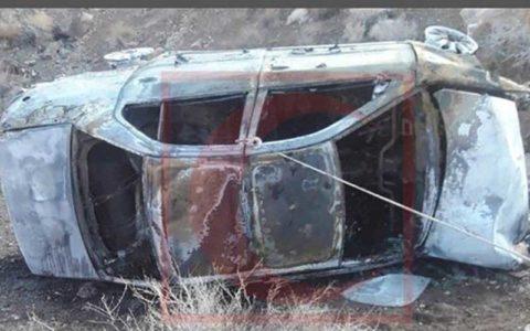 واژگونی و حریق سمند در سمنان 3 کشته و مصدوم برجای گذاشت