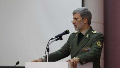 وزیر دفاع :هیچ قدرتی توانایی ایستادگی در مقابل ملت ایران را ندارد