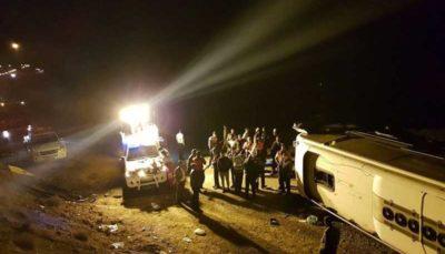 ۹ کشته و ۵ زخمی؛ بر اثر واژگونی اتوبوس مسافربری در اتوبان زنجان_تبریز