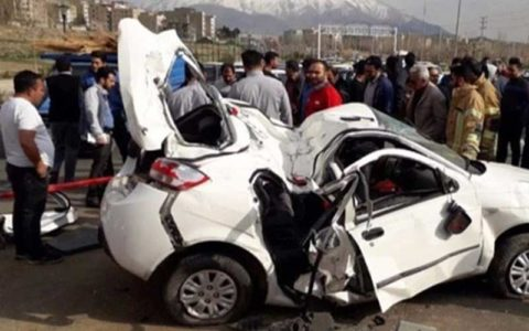 تصادف زنجیرهای 11 خودرو در آزادراه پردیس
