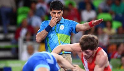 تنزل درجه داور المپیکی کشتی ایران