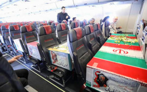 داخل هواپیمای حامل پیکر سردار سلیمانی ghasem soleimani, اهواز, هواپیما, قاسم سلیمانی