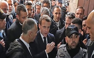 درگیری لفظی مکرون با پلیس رژیم صهیونیستی ( فیلم)