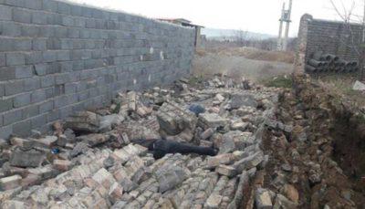 ریزش دیوار در ساوه جان دو نفر را گرفت