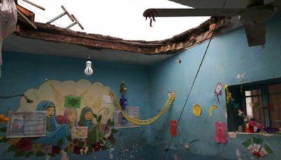 ریزش سقف بر سر دانشآموزان در کلاس درس در میناب میناب, ریزش سقف, کلاس درس