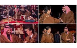 سورپرایز ولیعهد عربستان برای نخست وزیر ژاپن ولیعهد سعودی, عربستان, نخستوزیر ژاپن