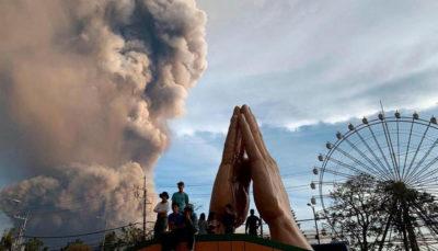 فوران شدید آتشفشان تال (تصاویر)