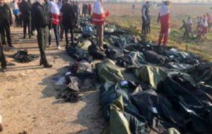 شناسایی ۵۰ پیکر جان باختگان حادثه سقوط هواپیمای اوکراینی (اسامی)