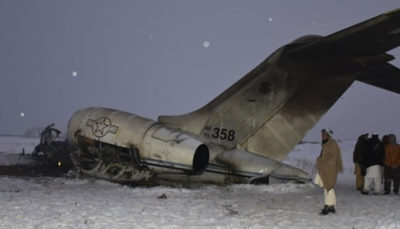 هویت دو نظامی کشته شده در سقوط هواپیما در غزنی اعلام شد