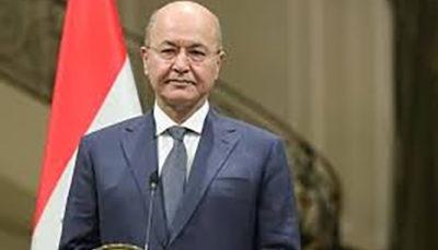 واکنش رئیس جمهور عراق به حمله موشکی سپاه به به پایگاه آمریکایی سپاه پاسداران, حمله موشکی, برهم صالح