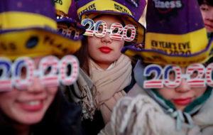 ورود جهان به سال 2020 (عکس)