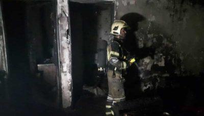 یک منزل مسکونی در آتش سوخت/مصدومیت یک آتشنشان