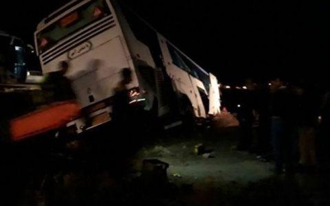  ۷ کشته در واژگونی اتوبوس مشهد - بندرعباس