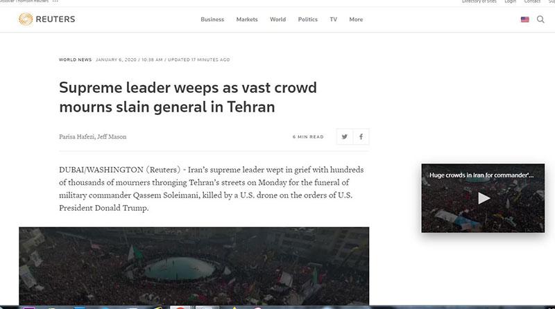 000 2 سردار سلیمانی, ghasem soleimani, تشییع, رسانههای خارجی